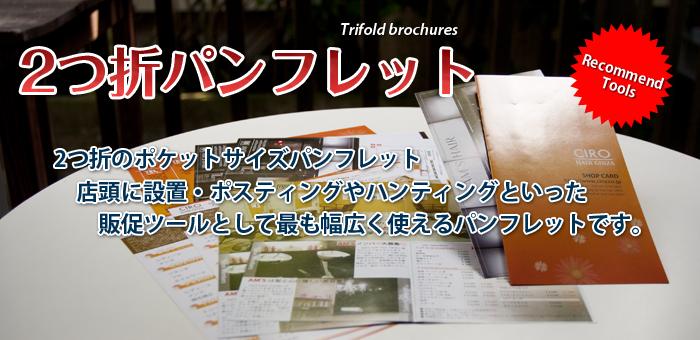 美容広告 エルデザイン 2つ折のポケットパンフレットのご案内