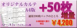 エルデザイン オリジナルカルテ増量キャンペーン
