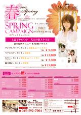 エルデザイン 制作事例美容室春のキャンペーン表