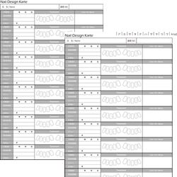 エルデザイン・ネイルサロン用オリジナルカルテ両面書き込み版